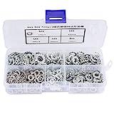 700 Stücke Verzinkte Zahnscheibe Flaches Set Zahnscheibe Befestigungen Sortiment Kit Werkzeug M3-M8 Kombination