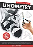 Linometry - 3D Zebra Paper Model: A cut, fold, and glue paper model activity book. Build a low-poly animal head model with this DIY, 3D, origami ... ASSEMBLED SIZE APPROX 13 X 12.5 inches