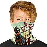 423 Neon Girl Face Bandanas Jungen Mädchen Wärmer Hals Gaiter Stirnband für Outdoor Sport Staub Sonnenschutz Gr. Einheitsgröße, White16