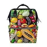 Schulrucksack, Gemüse, Obst, Ernte, großes Fassungsvermögen, Laptop, Handtasche, lässiger Reiserucksack für Damen, Herren, Erwachsene, Jugendliche, Kinder