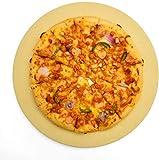 Pizzastein Brotbackstein, 38 x 38 x 1,5 cm, runder Cordierit-Stein für Ofen, BBQ, Grill, hohe Hitzebeständigkeit