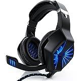 CSL - Gaming Headset für Xbox One Xbox One S Xbox One X PC PS4 PS4 Pro PS5 - Klinkenanschluss 3,5mm - Klinke Kopfhörer mit Mikrofon - Headset - Für Gaming Musik Chat