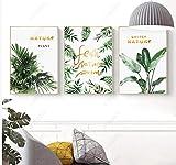 Wallpaper M Moderne minimalistische goldene Buchstaben nordische dekorative Malerei Breite 40 x Höhe 60 cm