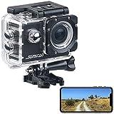 Somikon Action Kamera: UHD-Action-Cam DV-3717 mit WLAN, Marken-Bildsensor und App, IPX8 (Actioncam 4K)