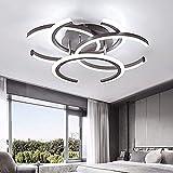 Deckenleuchten LED-Einbau-Installationsbüro Deckenleuchten mit 4 Lichtern, moderne Deckenleuchten für Schlafzimmer, Wohnzimmer, Esszimmer und Küche (Farbe : White light)