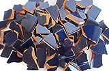 900g Bruchmosaik, Mosaikfliesen aus handgefertigten Fliesen - meeresblau
