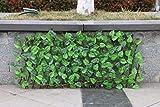 PIGMAMA Künstliche Hecke, erweiterbarer Zaun, Sichtschutz, dekorativer Zaun für Außen- und Innenbereich, Garten, Hinterhof, Z
