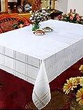 Vinyl-Tischdecke, einfach abwischbar, für Party, Hochzeit, Urlaub (weiß, 178 cm rund)