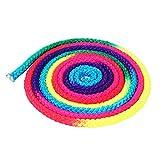 Regenbogen-Sportseil, langlebig, buntes rhythmisches Gymnastikseil, Regenbogenfarben für Kunst-Training, Sport-Wettkampf, Gymnastik