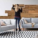 Sun Wood Stick-it Holz Wandverkleidung selbstklebend Altholz Design // Tirol 01 Wandpaneele zum Kleben Holzverblender 0,48m2 aus F