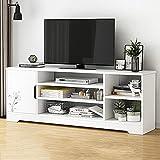KTDZ TV-Schrank Familie Wohnzimmer Tv-MöBel Moderner Fernsehtisch Mit 5 FäChern Und Abstellraum Multifunktionsschrank
