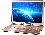 18'tragbare DVD, 3D Portable Evd Player ultradünne High-Definition-Anzeige eingebauter Akku, Fernbedienung Unterstützung USB/SD-Karte/TV/Externe Lautsprecher Langer Auto Reise/H
