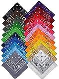 Bandana Halstuch Biker 1er 3er 6er 12er Pack Nikki Tuch Schal Paisley Kopftuch 100% Baumwolle 25 Farben (6er, Gemischt mit Ihrer Auswahl)