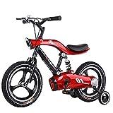 Kinderfahrrad, 14/16 Zoll Mountainbike mit Vollem Kettenschutz und Lichtern, für Jungen und Mädchen Von 3-10 Jahren (Color : Red, Size : 16'')