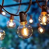 [26 LED Version] Lichterkette Außen,9 Meter 26 Glühbirnen OxyLED G40 LED Garten Lichterkette Terrasse außerhalb der Lichterkette,Wasserdichte Innen/Außen Lichterketten für Party,Hochzeit,W