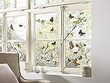 Komar Hochwertiger Window-Sticker Cheerful, Größe 31 x 31 cm (Breite x Höhe), 2 Bogen, 27 Teile, selbsthaftend und Immer Wieder neu platzierbar, Made in Germany, Bunt, 16006