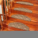 Treppenstufe Stufenteppich, 7er Pack Antirutschstreifen Treppe Set Anti Rutsch Selbstklebende Streifen Rutschschutz Treppenstufen Matten Für Treppen Außen Und Innen lattice-80cm