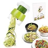 Spiralschneider 4 in1 Gemüse Spiralschneider, Spiralschneider Hand Gemüsehobel für Karotte, Gurke, Kartoffel,Kürbis, Zucchini, Zwiebel
