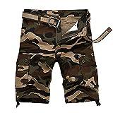 Banbry Herren Cargo Shorts Sommer Regular Fit Sporthose Outdoor Kurze Hose Leichte Wandershorts Bermuda Vintage Casual Kurz Hose mit 6 Taschen