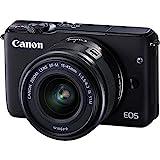 Canon EOS M10 Spiegellose Digitalkamera mit 15-45 mm Objektiv, Schwarz