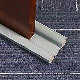 Errum Zugluftstopper für Türen in Grau, doppelseitiger Schutz Türbodendichtung für Schlafzimmer, Küche und Wohnzimmer (Grau)