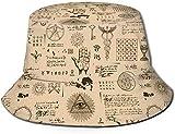 Unisex Baseball- Reise Bucket Hat Sommer Fischer Cap Sun Hat-Ancient Legend N