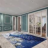 Kunsen rutschfest Luxus-Innenraum-Blauer Pfau-Wohnzimmer großes Teppich-Guthaben_160x200cm weicher Waschbare und Pflegeleichte dekorative Teppiche Wohnzimmergroßer Teppich Schlafzimm5ft 3''X6ft 7''