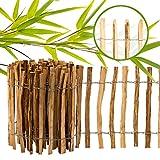 BooGardi imprägnierter Staketenzaun · 12 Größen · 60cm hoch · 5m lang · Lattenabstand 3-5cm · Kastanienzaun Gartenzaun HolzzaunGarten