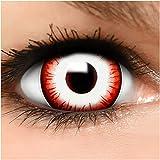 Farbige Maxi Sclera Kontaktlinsen Zombie Clown - inkl. Behälter - Top Linsenfinder Markenqualität, 1Paar (2 Stück)