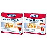 SOS Wärme-Umschlag, zur Schmerzlinderung bei Muskel- und Gelenkschmerzen und Beschwerden im Nacken und Schulterbereich, lösen Verspannungen mit bis zu 8 Stunden effektiver Wärme, 2 x Wärme-Umschlag