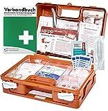 Erste Hilfe Kasten DIN/EN 13157 für BÜRO & BETRIEBE + DIN/EN 13164 für KFZ - INKL. Hygieneset +Verbandbuch (Perforierte Seiten)