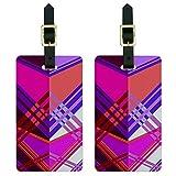 Graphics & More Gepäckanhänger, geometrisch, Magenta/Violett, Multi (Weiß) - Luggage.Tags.6016