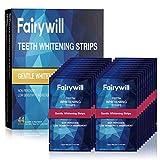Fairywill White Stripes,Zahnaufhellung Stripes, 44 Streifen Zahnaufhellungsset, Teeth Whitening Strips, Entfernt Hartnäckige Flecken, Schnelles Aufhellen (22 Paar Minzgeschmack)