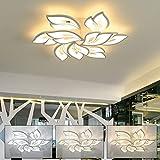 AiPaiTe Deckenleuchte, Modern LED Dimmbar Wohnzimmerlampe mit Fernbedienung, Deckenlampe Einstellbare Lichtfarbe und Helligkeit inkl. Speicherfunktion, Weiß Deckenleuchten für Schlafzimmer (A00LH09)