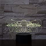 World of Tanks LED-Lampe, Logo, Farbwechsel, USB, Nachtlicht