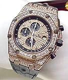 HHBB Luxus-Marke Herren Uhren Chronograph Saphir Edelstahl Gelb Rose Gold Silber Leuchtend Schwarz Volle Diamanten Aa+ Roségold