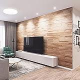 Wandverkleidung aus Holz 3D Optik Natürliches Eiche Holz Wandpaneele Wanddekoration Holzverkleidung Holzwand Wanddesign von Wooden Wall Design model OZO (1m2)