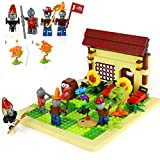 Magma Brick Pflanzen gegen Zombies: Zombieset und Plant 4X4 Battle Stage Building Kompatibel mit Lego