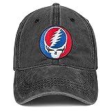 Snapback Baseball Caps Sport Visor Cap Neuheit Trucker Dad Hüte Cool Denim Fishing Hat Verstellbar für Männer Frauen - Schwarz - Einheitsgröße
