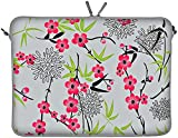 Digittrade LS104-15 Sakura Designer Schutzhülle für Laptops und MacBooks mit einer Bildschirmdiagonale von 38,1-39,6 cm (15,6 Zoll) grau-rosa