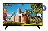 Telefunken XH24J501D 24 Zoll Fernseher (Smart TV inkl. Prime Video / Netflix / YouTube, HD ready, DVD-Player, Works with Alexa, Triple-Tuner) [Modelljahr 2021]