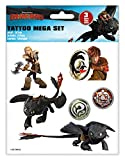Craze DreamWorks Dragons Tattoo Mega Set 3 Bögen Drachenzähmen Tattoos Kindertattoos 57767,