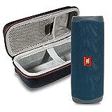 JBL Flip 5 Bluetooth-Lautsprecher, wasserdicht, tragbar, kabellos, mit Hartschalenschutzhülle, Blau