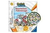Collectix Ravensburger Buch 4-7 Jahre | Pocket Wissen - Baustellen-Fahrzeuge + Kinder Auto-Sticker | Pocketwissen, TIPTOI