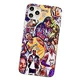 Kobe Handyhülle für iPhone 7/8, 7/8Plus, X/XS, XR, XS Max, 11, 11Pro, 11Pro Max, Schwarz Mamba Basketball Schützende Weiche TPU Gummi Case Cover Remembrance Kobe A- 11