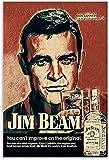 TANXM Leinwand Bedrucken 60 * 90cm Kein Rahmen Jim Beam Poster und Wandkunstposter, die Moderne Heimarbeitsplatz-Bürodekoration drucken