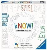 Ravensburger 27252 - kNOW! Quizspiel mit dem Google Assistant für 2-6 Spieler, Gesellschaftsspiel zum Spielen mit Freunden oder der Familie ab 10 Jahren