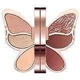 ZHWDZAMM Schmetterlings-Lidschatten-Palette, wasserdichtes, dauerhaftes Perlglitter-Glitzer-Matt, Schmetterlings-Make-up-Paletten-Set, Farb-Lidschatten Einfach aufzutragen Make-up Make Für rauchiges