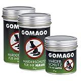 GOMAGO Marderschutz Set für Ihr Haus (2x70g) und Auto (1x35g) | Zuverlässige und einfache Mardervergrämung durch Duftstoff | Alternative zu Marderschreck, Marderspray, Ultraschall, einfache Anwendung