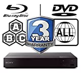 Sony BDP-S6700 Smart 3D 4K-Upscaling WiFi ICOS Multi Region All Zone Code Free Blu-ray Player Blu-ray Zones A, B and C, DVD Regions 1-8. DLNA YouTube, Netflix etc HDMI and Coaxial Audio Output SACD